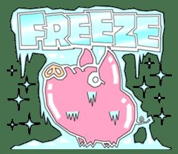 PIGGIE the Pinky Pig-ONOMATOPOEIA- sticker #10610639