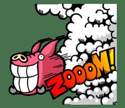 PIGGIE the Pinky Pig-ONOMATOPOEIA- sticker #10610641