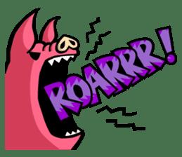 PIGGIE the Pinky Pig-ONOMATOPOEIA- sticker #10610642