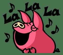 PIGGIE the Pinky Pig-ONOMATOPOEIA- sticker #10610650
