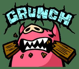 PIGGIE the Pinky Pig-ONOMATOPOEIA- sticker #10610652
