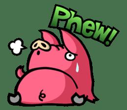 PIGGIE the Pinky Pig-ONOMATOPOEIA- sticker #10610660