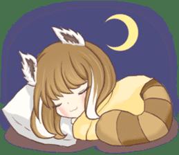 Red Panda Girl sticker #10616553