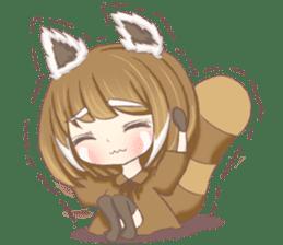 Red Panda Girl sticker #10616558