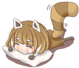 Red Panda Girl sticker #10616559