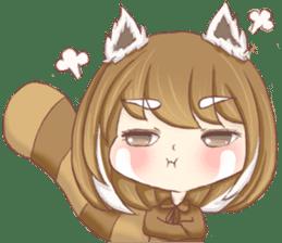 Red Panda Girl sticker #10616561