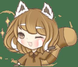 Red Panda Girl sticker #10616563