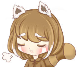 Red Panda Girl sticker #10616565