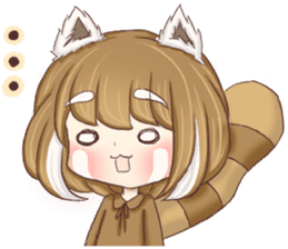 Red Panda Girl sticker #10616570