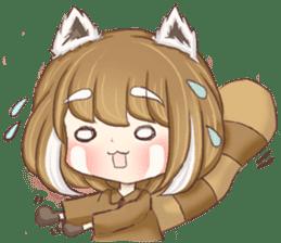 Red Panda Girl sticker #10616571