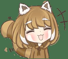 Red Panda Girl sticker #10616574