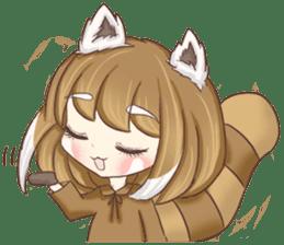 Red Panda Girl sticker #10616575