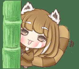 Red Panda Girl sticker #10616576