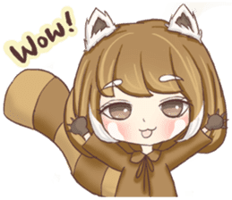 Red Panda Girl sticker #10616577