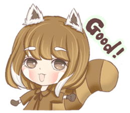 Red Panda Girl sticker #10616579