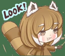 Red Panda Girl sticker #10616583