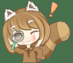Red Panda Girl sticker #10616584