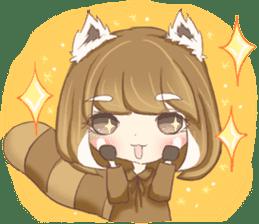 Red Panda Girl sticker #10616585