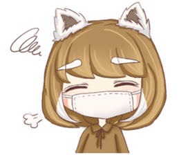 Red Panda Girl sticker #10616588