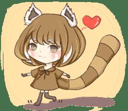 Red Panda Girl sticker #10616590