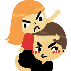 Angry couple