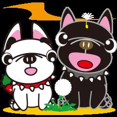 French bulldog Hana and dogs