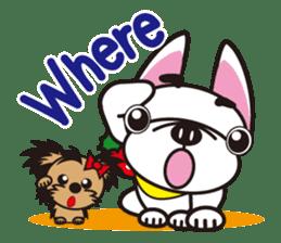 French bulldog Hana and dogs sticker #10626009