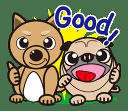 French bulldog Hana and dogs sticker #10626015