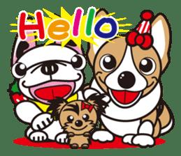 French bulldog Hana and dogs sticker #10626035