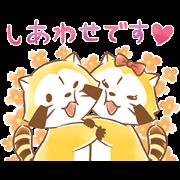 สติ๊กเกอร์ไลน์ Rascal and Lily: Fluffy Love