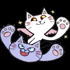 Devils cat & Angels cat E.