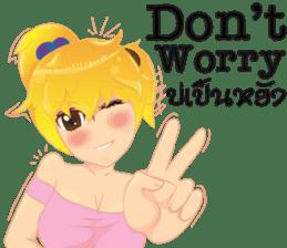 Cartoon lady language Thai/eng sticker #10639746