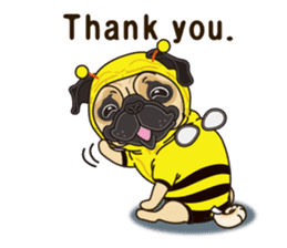 A sticker willingly. Pug (English) sticker #10646561