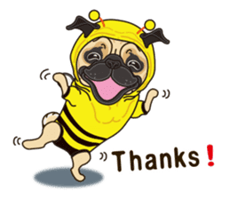 A sticker willingly. Pug (English) sticker #10646562