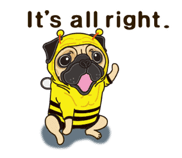 A sticker willingly. Pug (English) sticker #10646563