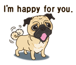 A sticker willingly. Pug (English) sticker #10646567
