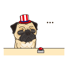 A sticker willingly. Pug (English) sticker #10646568