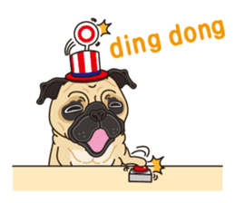 A sticker willingly. Pug (English) sticker #10646569