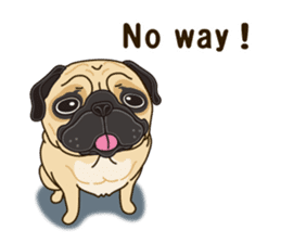 A sticker willingly. Pug (English) sticker #10646576