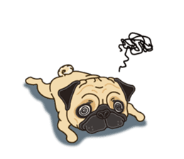 A sticker willingly. Pug (English) sticker #10646581