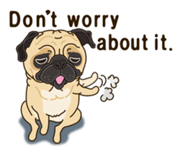 A sticker willingly. Pug (English) sticker #10646583