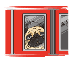 A sticker willingly. Pug (English) sticker #10646587