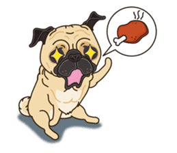A sticker willingly. Pug (English) sticker #10646593