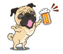 A sticker willingly. Pug (English) sticker #10646595