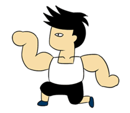 Gym Guy / Muscle Man sticker #10649163