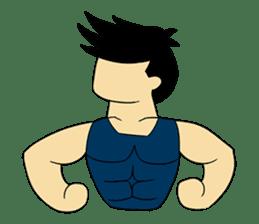 Gym Guy / Muscle Man sticker #10649165