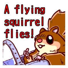 A flying squirrel flies!