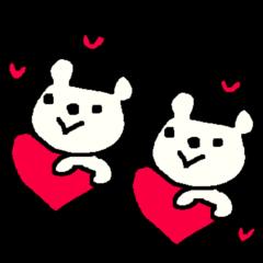 English cute LOVE bear2.