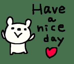 English cute LOVE bear2. sticker #10655443