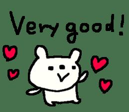 English cute LOVE bear2. sticker #10655445